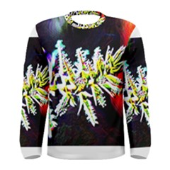 Digitally Enhanced Flower Men s Long Sleeve T Shirts