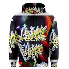 Digitally Enhanced Flower Men s Zipper Hoodies