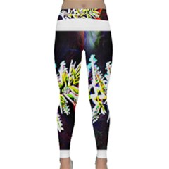 Digitally Enhanced Flower Yoga Leggings
