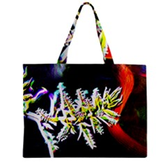Digitally Enhanced Flower Zipper Tiny Tote Bags