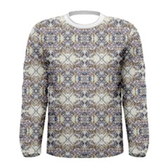 Modern Oriental Geometric Floral Print Men s Long Sleeve T-shirt