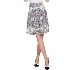 Oriental Geometric Floral A-Line Skirts