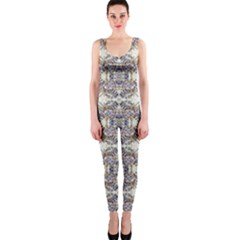 Oriental Geometric Floral OnePiece Catsuits