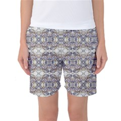Oriental Geometric Floral Women s Basketball Shorts