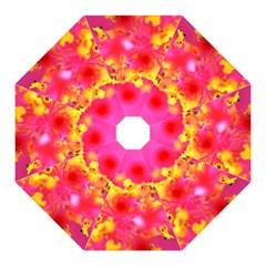 Bright Pink Hibiscus Straight Umbrellas