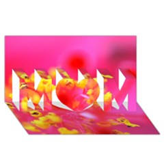 Bright Pink Hibiscus Mom 3d Greeting Card (8x4)