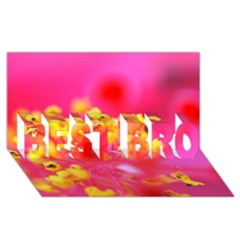 Bright Pink Hibiscus BEST BRO 3D Greeting Card (8x4)