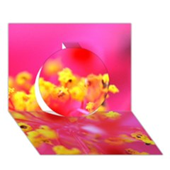 Bright Pink Hibiscus Circle 3d Greeting Card (7x5)