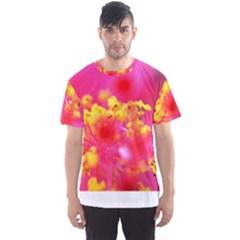 Bright Pink Hibiscus Men s Sport Mesh Tees