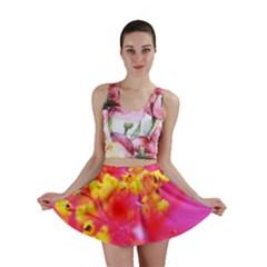Bright Pink Hibiscus Mini Skirts