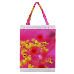 Bright Pink Hibiscus Classic Tote Bags
