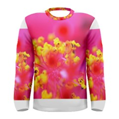 Bright Pink Hibiscus Men s Long Sleeve T-shirts