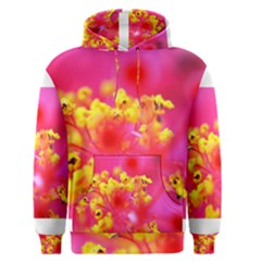 Bright Pink Hibiscus Men s Pullover Hoodies