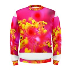 Bright Pink Hibiscus Men s Sweatshirts