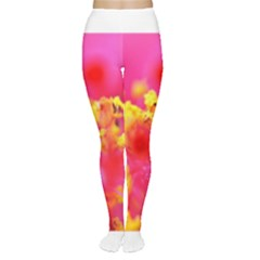 Bright Pink Hibiscus Women s Tights