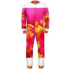 Bright Pink Hibiscus Onepiece Jumpsuit (men)