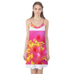 Bright Pink Hibiscus Camis Nightgown