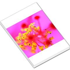 Bright Pink Hibiscus 2 Large Memo Pads