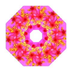 Bright Pink Hibiscus 2 Golf Umbrellas
