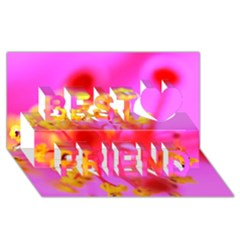 Bright Pink Hibiscus 2 Best Friends 3D Greeting Card (8x4)
