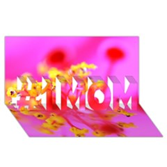 Bright Pink Hibiscus 2 #1 MOM 3D Greeting Cards (8x4)