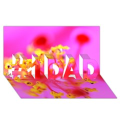 Bright Pink Hibiscus 2 #1 DAD 3D Greeting Card (8x4)