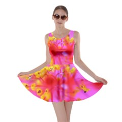 Bright Pink Hibiscus 2 Skater Dresses