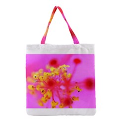 Bright Pink Hibiscus 2 Grocery Tote Bags