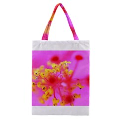 Bright Pink Hibiscus 2 Classic Tote Bags
