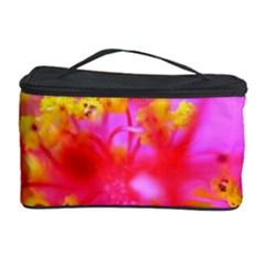 Bright Pink Hibiscus 2 Cosmetic Storage Cases