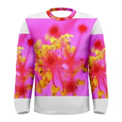 Bright Pink Hibiscus 2 Men s Long Sleeve T-shirts