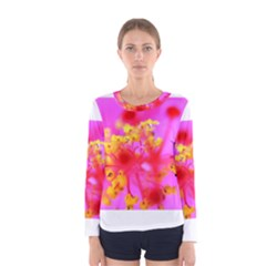 Bright Pink Hibiscus 2 Women s Long Sleeve T Shirts