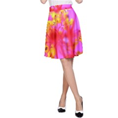 Bright Pink Hibiscus 2 A-Line Skirts