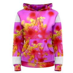 Bright Pink Hibiscus 2 Women s Pullover Hoodies