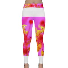Bright Pink Hibiscus 2 Yoga Leggings