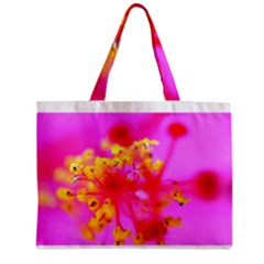 Bright Pink Hibiscus 2 Zipper Tiny Tote Bags