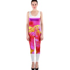 Bright Pink Hibiscus 2 OnePiece Catsuits