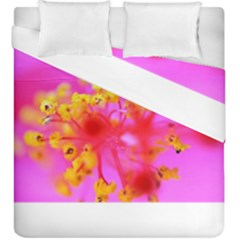 Bright Pink Hibiscus 2 Duvet Cover (king Size)