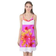 Bright Pink Hibiscus 2 Camis Nightgown