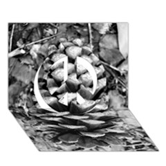 Pinecone Spiral Peace Sign 3d Greeting Card (7x5)