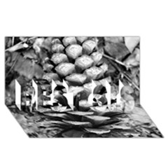 Pinecone Spiral BEST SIS 3D Greeting Card (8x4)