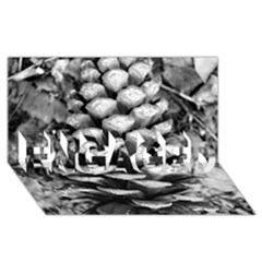 Pinecone Spiral ENGAGED 3D Greeting Card (8x4)