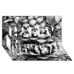 Pinecone Spiral Happy New Year 3D Greeting Card (8x4)