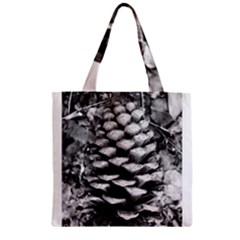 Pinecone Spiral Zipper Grocery Tote Bags