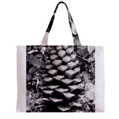 Pinecone Spiral Zipper Tiny Tote Bags