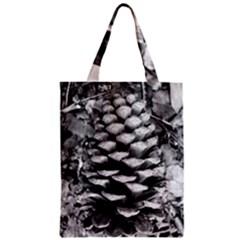 Pinecone Spiral Zipper Classic Tote Bags