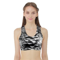 Pinecone Spiral Women s Sports Bra with Border