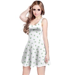 Officially Sexy Os Collection Green & White Reversible Sleeveless Dress