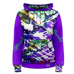 Officially Sexy Purple Floating Hearts Collection Women s Pullover Hoodie