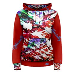 Officially Sexy Red Floating Hearts Collection  Women s Pullover Hoodie